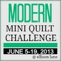 modern mini quilt 2013 button 125